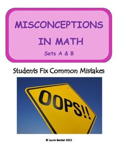 One of the best ways for students to learn math concepts?  Have them analyze mistakes that actual students made in solving math problems.