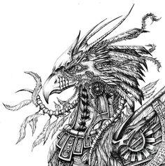 Phoenix+Bird+Drawings | Phoenix Drawing