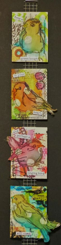 Treasured Moments of Inspiration: Wings 'n' things at Thats Crafty Challenge Blog