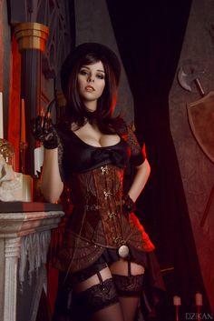 Steampunk Girl #steampunktendencies #steampunk   Photographer : Dzikan Model: Helly von Valentine