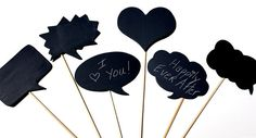 SPECIAL TODAY Chalkboard Speech Bubbles wooden por thecottagemarket