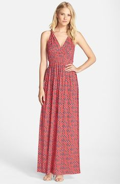 FELICITY & COCO Print Jersey Maxi Dress viscose/spandex orange/red, blue/red 54L szXS 98.00