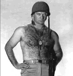 Aldo Ray, the voice, chest and endowment that wowed Old Hollywood. Aldo Ray, John Saxon, Film World, War Film, Valentino Men, Hot Flashes, Korean War, Old Hollywood, Actors