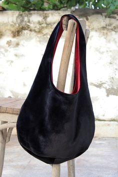 Black silk velvet bag by originalboutique on Etsy, $48.00
