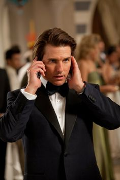 Tom Cruise as Ethan Hunt in Mission: Impossible Ghost Protocol