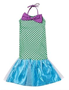 2020 Combclub Kids Gril's Cute Sequins Little Mermaid Dress Halter Bowknot Princess Dress Cosplay Costume Halloween and more Fantasy Costumes for Girls, Girl's Halloween Costumes, Mermaid Costumes for Girls for Girls Mermaid Costume, Mermaid Halloween Costumes, Princess Costumes, Girl Costumes, Cosplay Costumes, Little Mermaid Dresses, The Little Mermaid, Fantasy Costumes, Girls Wear