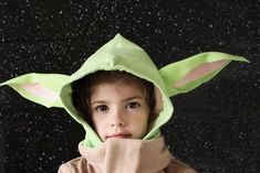 With a few supplies and some basic crafting skills, you too can recreate this hoodie that resembles Baby Yoda's iconic robe from the streaming series. Crafts For Boys, Sewing Projects For Kids, Sewing For Kids, Baby Sewing, Sew Baby, Pattern Drafting Tutorials, Sewing Patterns Free, Free Sewing, Disney Inspired Fashion
