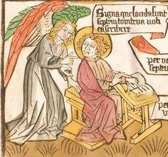 Johannes : Apokalypse, [Blockbuch] Deutschland, ca. 1468/70  Folio 14v