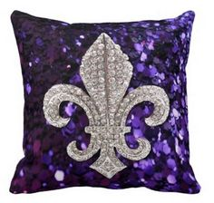 Shop Sparkle jewel Fleur De Lis Sequins Purple iPad Mini Cover created by Lorriscustomart. Purple Love, All Things Purple, Purple Rain, Shades Of Purple, Purple Stuff, Deep Purple, Custom Pillows, Decorative Pillows, Purple Pillows