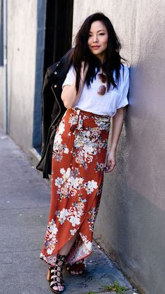 94237c8f65 floral maxi skirt / via the fancy pants report