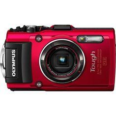Olympus TG-4 16MP 1080p HD Waterproof Digital Camera with 3 LCD Display  Red