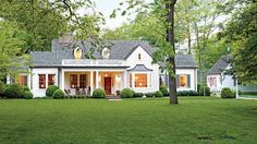 Best Exterior Makeover - Southern Living - How a plain-jane colonial became a picturesque farmhouse.