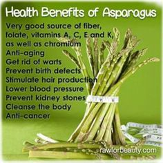 Natural Cures Not Medicine: The Health Benefits of Asparagus Health And Nutrition, Health And Wellness, Health Fitness, Free Fitness, Health Care, Nutrition Guide, Health Advice, Health Quotes, Wellness Tips