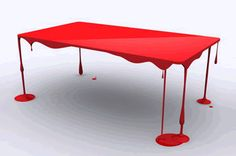 Red Melting Table!