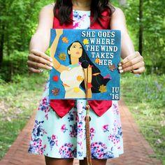 Disney's Pocahontas quotes graduation cap and gown photo pic