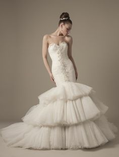Dennis Basso - Sweetheart Mermaid Gown in Tulle