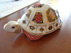 Royal Crown Derby Hand-Painted Turtle by SmithHouseGallery on Etsy