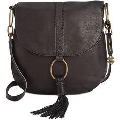 Lucky Brand Athena Convertible Flap Bag ($188) ❤ liked on Polyvore featuring bags, handbags, shoulder bags, black, convertible purse, lucky brand purses, convertible shoulder bag, lucky brand handbags and convertible handbag