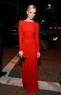db8a639f7a17 Awesome red dress on Actress Jaime King Camilla Belle