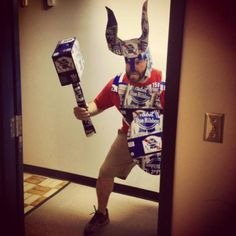 Who needs Duffman when you have Pabst Thor in your building.