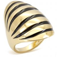 Zina-Warning: Your friends are sure to feel the sting of jealousy when they see your finger adorned in this 14k gold and black enamel stunner. The good news is, they can get one of their own.  $35 www.jillzarinjewelry.com