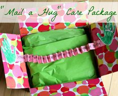 """""""Mail a Hug"""" care package to a loved one across the miles."""