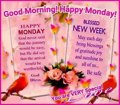 Happy Monday & Blessed New Week!