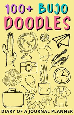 The ultimate list of the 100+ best bullet journal step-by-step doodle tutorials and ideas to try drawing! #doodles #bulletjournaldoodles #howtodraw Bullet Journal Printables, Bullet Journal Art, Art Journal Pages, Bullet Journals, Doodle Sketch, Doodle Drawings, Easy Drawings, Love Doodles, Simple Doodles