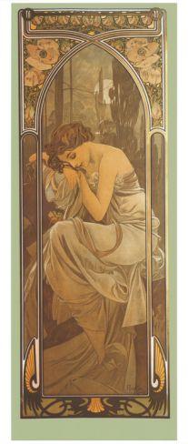 Repos de la Nuit Giclee Print by Alphonse Mucha at Art.com