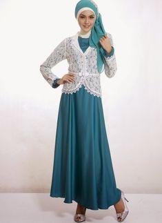 Model baju pesta muslim dengan blazer brokat (Contohbajumuslim)