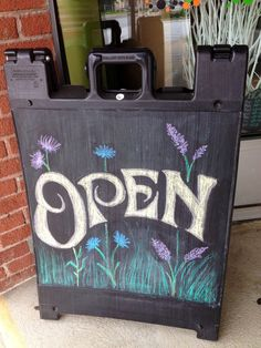 Chalkboard open sign how neat salon signs we are. Chalkboard Signs, Chalkboards, Chalkboard Ideas, Open Shop, Chalk Design, Retail Signage, Salon Signs, Open Signs, Boutique Decor