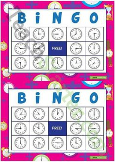 Teaching Resource: Thirty different bingo cards using analogue clocks.Telling the Time Bingo – Hour, Half-hour, Quarter To and Quarter Past Teaching Resource Teaching Clock, Teaching Plan, Teaching Time, Teaching French, Teaching Math, Teaching Spanish, Standards For Mathematical Practice, Material Didático, Daily Math