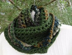 Cozy and soft  chrochet Infinity scarf in by KorneliasKreations, $22.50