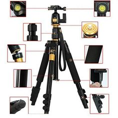 XCSOURCE Professional Portable Magnesium Aluminium Alloy Tripod Monopod  Ball Head SLR Camera Canon Nikon Pentax Sony Tripod Q555 Max Height 559 Max Load 8KG LF393 ** Click image for more details.Note:It is affiliate link to Amazon. #like Photography Camera, Photography Supplies, Photography Equipment, Video Photography, Camera Tripod, Video Camera, Camera Gear, Slr Camera, Photo Accessories