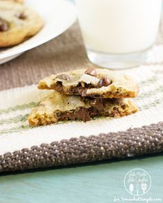 N is for Nutella Stuffed Chocolate Chip Cookies