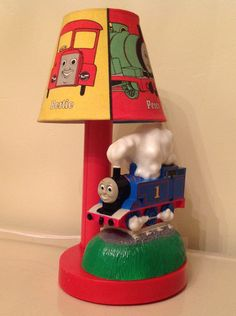 Thomas the Train Lamp 1993 by TresconyAntiques on Etsy, $38.00