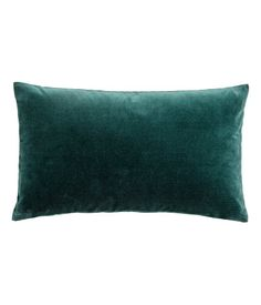 $9.99 Dark green. Cushion cover in cotton velvet with a concealed zip.