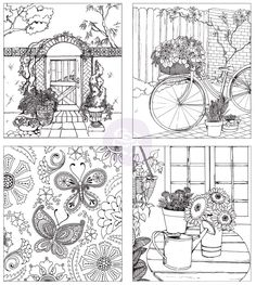 Coloring Book Behind The Garden Gate A Magical Experience Awaits 45 Pages Single Sided Spiral Bound Thick Quality