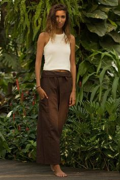 Brown Fisherman Pants, Hippie-Pants.com