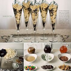 Loving this popcorn bar idea! Perfect for a movie-themed party and great Oscar Night party inspiration