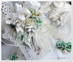 Pure Shabby chic - project made by Elena Tretiakova for More Than Words  http://elena-3cards.blogspot.ru