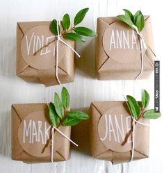 Brown paper & greenery