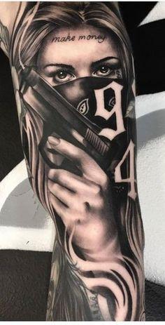 Daddy Tattoos, Dope Tattoos, Badass Tattoos, Arm Tattoos For Guys, Body Art Tattoos, Girl Tattoos, Leg Tattoos, Clown Tattoo, Chicanas Tattoo