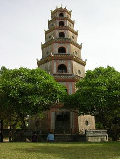 Thien Mu #pagoda in #Hue Please like, share, repin or follow us on Pinterest to have more beautiful pictures. http://hoianfoodtour.com/