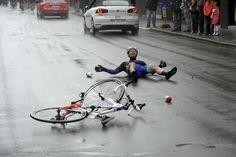 Tour de France 2014 - Stage 5: Ypres - Arenberg Porte du Hainaut 155.5km photos - Jerome Pineau crashed on the pavement Photo credit © Bettini Photo