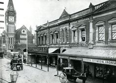 Hay Street, Perth, looking east towards Town Hall, from what is now Hay Street Mall, Perth Western Australia, Australia Travel, Street Mall, Street View, Melbourne Suburbs, Local History, Old Buildings, Back In The Day, New Mexico