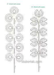 Картинки по запросу вяжем крючком цветы и листья