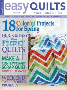 Refresh your quilting with 18 new and vibrant quilt projects perfect for spring like quick table topper projects and batik quilt projects to add a pop of spring to your home decor.