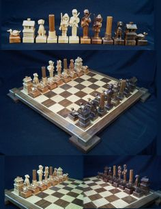 Duck Hunters Chess Set by chess set artist by JimArnoldsChessSets, $650.00