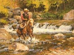 Water Ride by Steve Atkinson Oil ~ 12 x 16